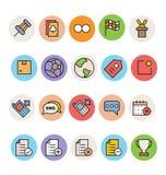 Iconos coloreados básicos 4 del vector Fotografía de archivo libre de regalías