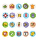 Iconos coloreados básicos 12 del vector Foto de archivo libre de regalías