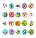 Iconos coloreados básicos 6 del vector Fotografía de archivo