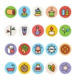 Iconos coloreados BALNEARIO 3 del vector Fotos de archivo libres de regalías