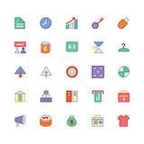 Iconos coloreados comercio 4 del vector Imagen de archivo libre de regalías