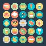Iconos coloreados comida 2 del vector ilustración del vector