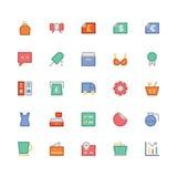 Iconos coloreados 12 del vector que hacen compras Imagenes de archivo