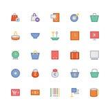 Iconos coloreados 7 del vector que hacen compras Fotografía de archivo libre de regalías