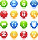 Iconos coloreados del Web stock de ilustración