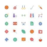 Iconos coloreados deportes 6 del vector Fotos de archivo libres de regalías