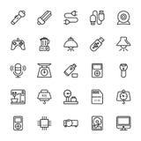 Iconos coloreados electrónica 3 del vector Fotografía de archivo libre de regalías