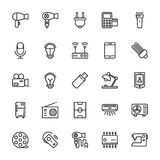Iconos coloreados electrónica 1 del vector Imagen de archivo