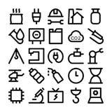 Iconos coloreados industriales 7 del vector Fotografía de archivo libre de regalías