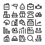 Iconos coloreados industriales 3 del vector Fotografía de archivo
