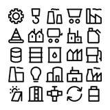 Iconos coloreados industriales 1 del vector Imágenes de archivo libres de regalías