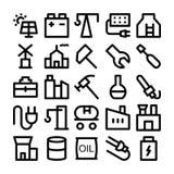 Iconos coloreados industriales 2 del vector Imagen de archivo libre de regalías