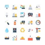 Iconos coloreados industriales 1 del vector Imagen de archivo