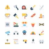 Iconos coloreados industriales 3 del vector Imagen de archivo libre de regalías