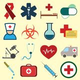 Iconos coloreados médicos libre illustration