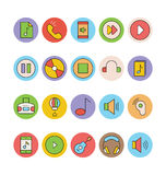Iconos coloreados música 3 del vector Fotografía de archivo