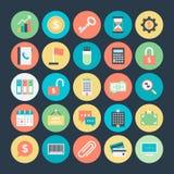 Iconos coloreados negocio 1 del vector Fotos de archivo libres de regalías