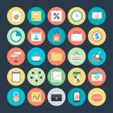 Iconos coloreados negocio 6 del vector Fotos de archivo libres de regalías