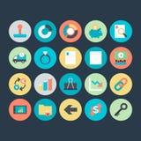 Iconos coloreados negocio 7 del vector Fotos de archivo libres de regalías