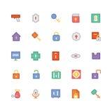 Iconos coloreados seguridad 1 del vector Imagenes de archivo