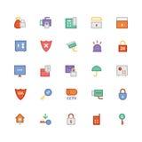 Iconos coloreados seguridad 3 del vector Imagen de archivo