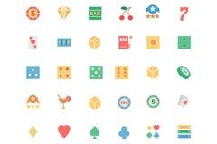 Iconos coloreados vector plano 1 del casino libre illustration