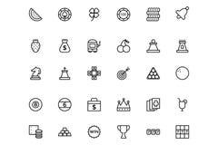 Iconos coloreados vector plano 2 del casino ilustración del vector
