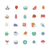 Iconos coloreados verano 4 del vector Fotos de archivo libres de regalías