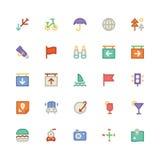 Iconos coloreados viaje 4 del vector Fotografía de archivo libre de regalías
