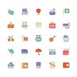 Iconos coloreados viaje 7 del vector Imagen de archivo libre de regalías