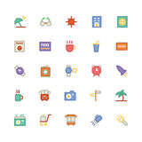 Iconos coloreados viaje 5 del vector Imagen de archivo libre de regalías