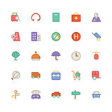 Iconos coloreados viaje 6 del vector Fotos de archivo libres de regalías