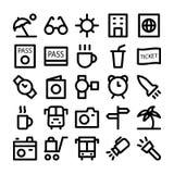 Iconos coloreados viaje 5 del vector Imágenes de archivo libres de regalías