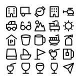 Iconos coloreados viaje 8 del vector Imagenes de archivo