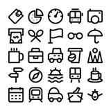 Iconos coloreados viaje 11 del vector Imagen de archivo libre de regalías