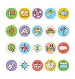 Iconos coloreados viaje 4 del vector Foto de archivo