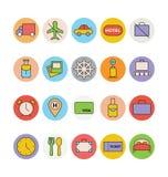 Iconos coloreados viaje 6 del vector libre illustration