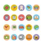 Iconos coloreados viaje 2 del vector Fotos de archivo libres de regalías