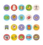 Iconos coloreados viaje 5 del vector Fotos de archivo libres de regalías