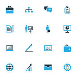 Iconos coloridos comerciales fijados Colección de autentificación, de contrato, de insignia y de otros elementos También incluye  Imagen de archivo