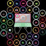 Iconos coloridos de la oficina Imagenes de archivo