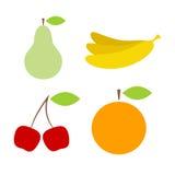 Iconos coloridos de las frutas Imagen de archivo