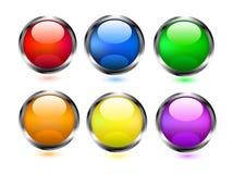 Iconos coloridos de los botones Fotos de archivo libres de regalías