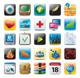 Iconos coloridos del botón 3D Fotografía de archivo