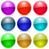 Iconos coloridos del vector Imagen de archivo