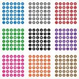 Iconos coloridos del web Imagen de archivo