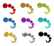 Iconos coloridos del Web de las burbujas