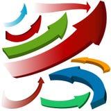 Iconos coloridos determinados de la flecha libre illustration