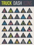 Iconos coloridos para los tableros de instrumentos 5 del camión Foto de archivo