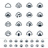 Iconos computacionales de la nube Fotografía de archivo libre de regalías